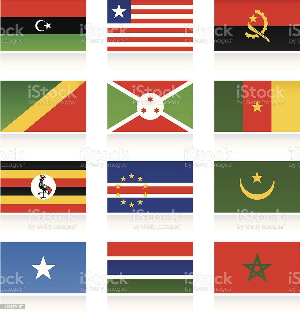 African Länderflaggen – Vektorgrafik