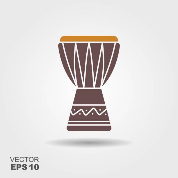 stockillustraties, clipart, cartoons en iconen met afrikaanse drum pictogram - drum