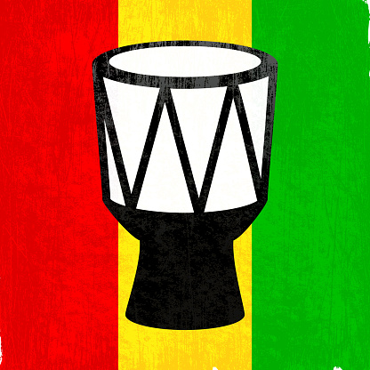 African drum on royalty free vector Background