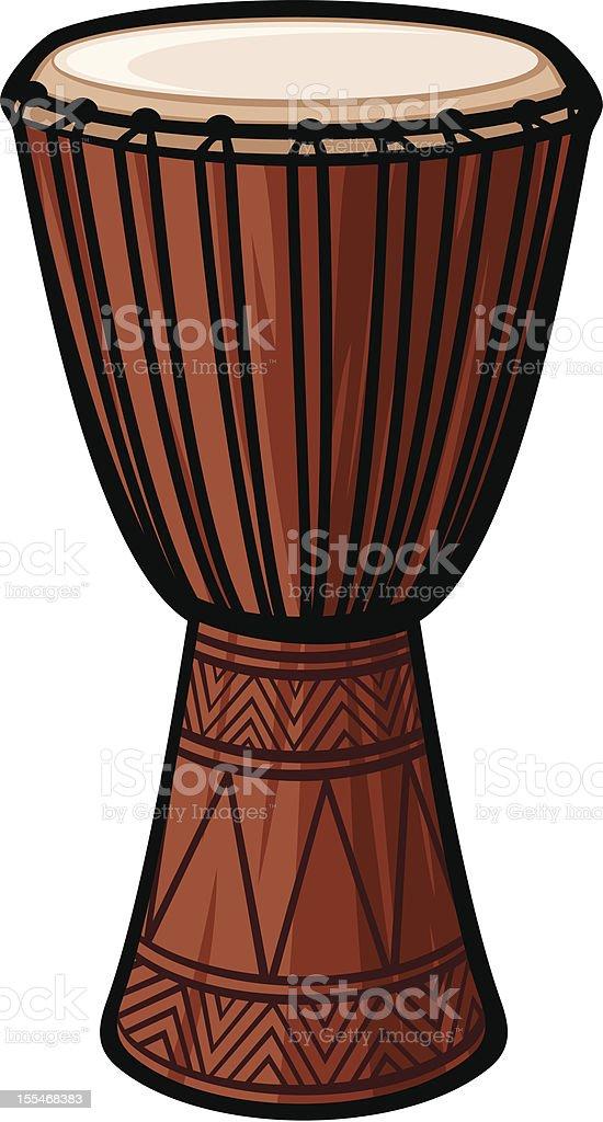 African Drum vector art illustration