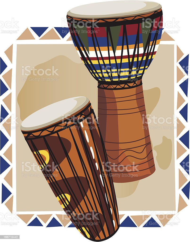 African Drums royalty-free stock vector art