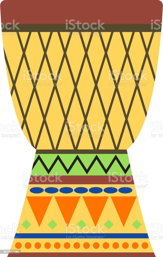 African drums vector illustration. vector art illustration