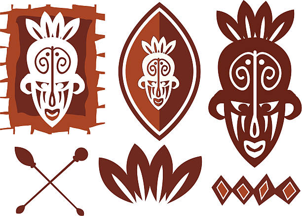 Best African Shield Illustrations, Royalty-Free Vector