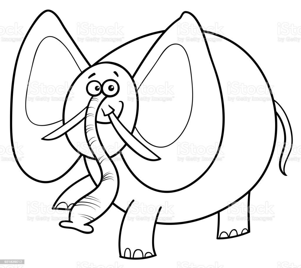 Ilustración de Libro De Color De Personaje De Dibujos Animados De ...