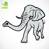 African elephant - vector illustration