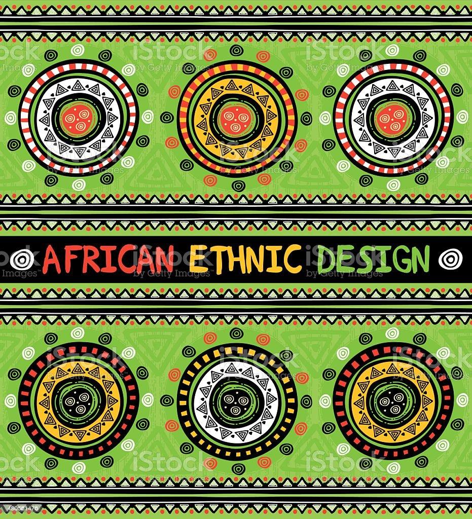 Étnica africano com design geométrico abstrato enfeites - ilustração de arte em vetor