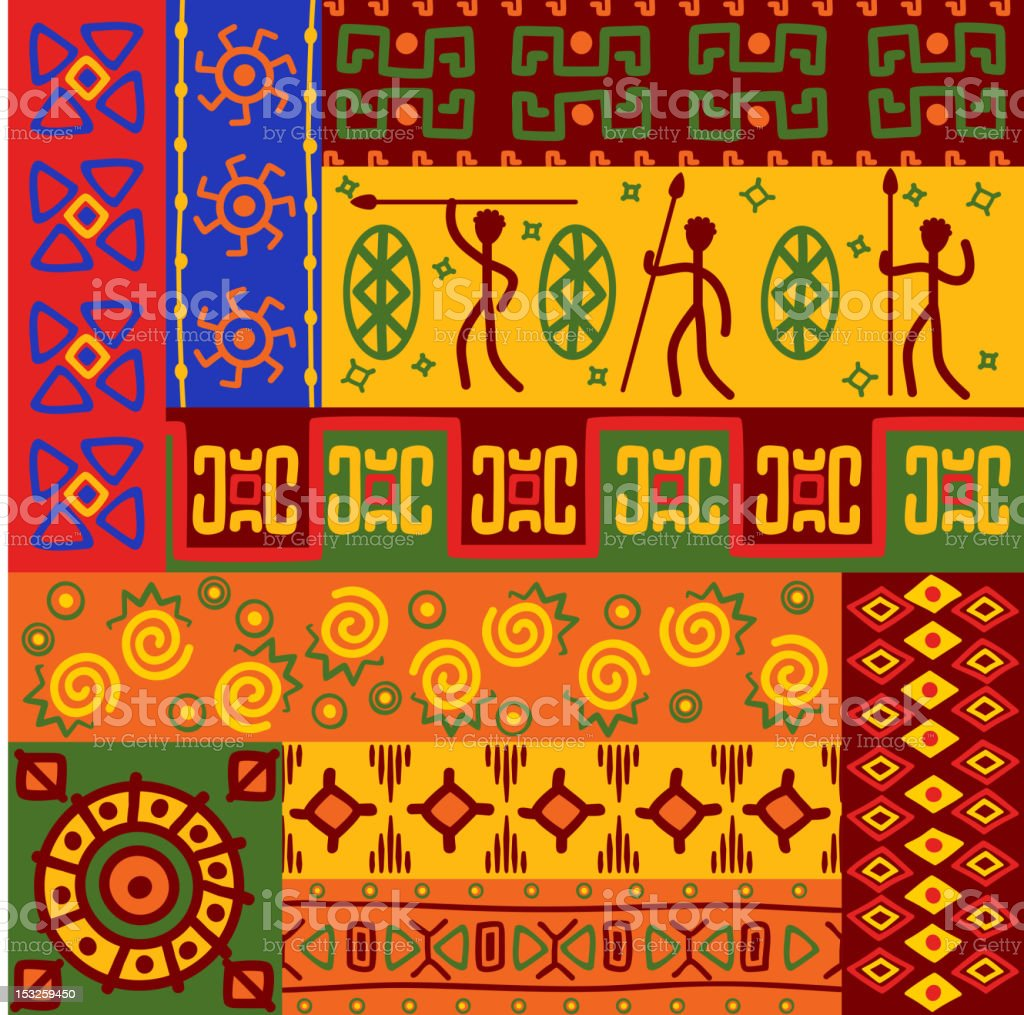 African ethnic ornaments royalty-free stock vector art