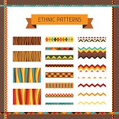 African ethnic seamless ornaments and pattern brushes.