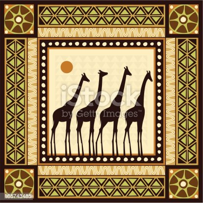Frame with ethnic style frames of Africa.