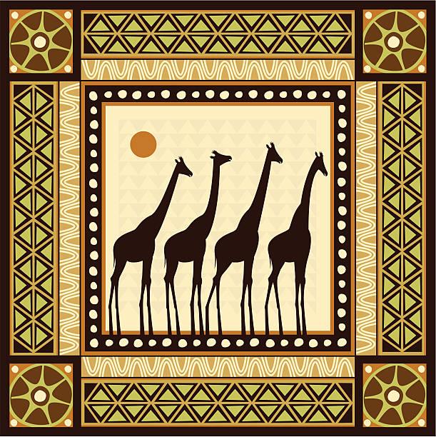 afrikanische frame-motiv - kamerun stock-grafiken, -clipart, -cartoons und -symbole