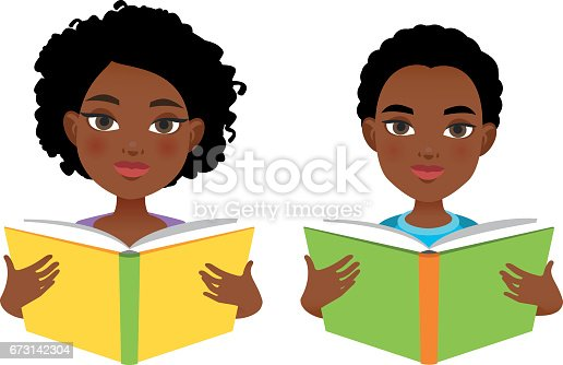 istock African girl and boy reading books 673142304