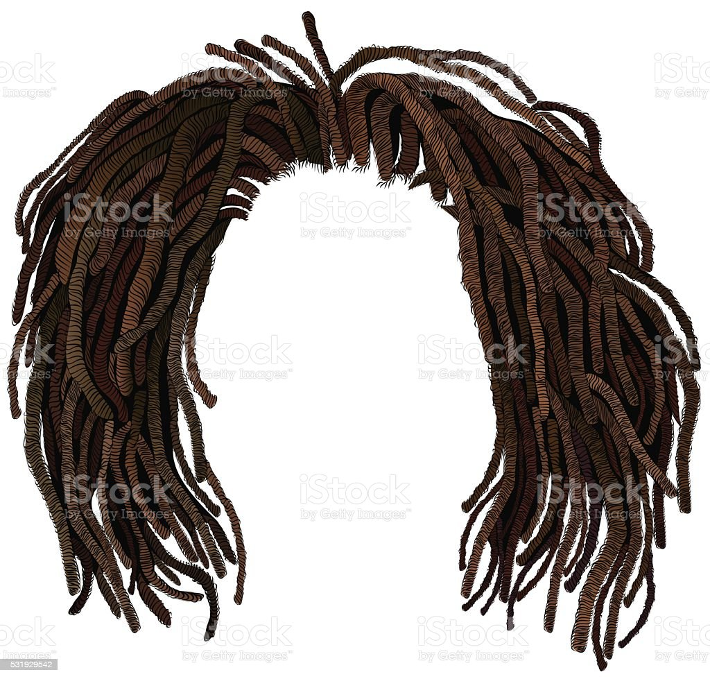 african hair dreadlocks .hairstyle vector art illustration
