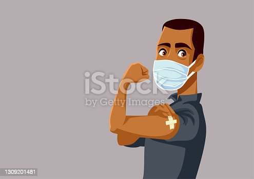 istock African Man Showing Vaccinated Arm 1309201481