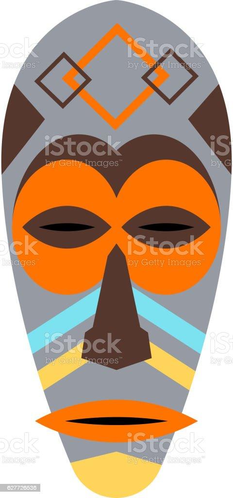 African mask vector set. vector art illustration