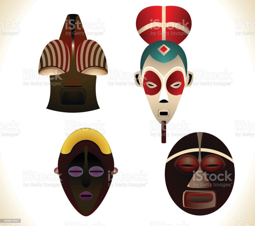 African masks royalty-free stock vector art