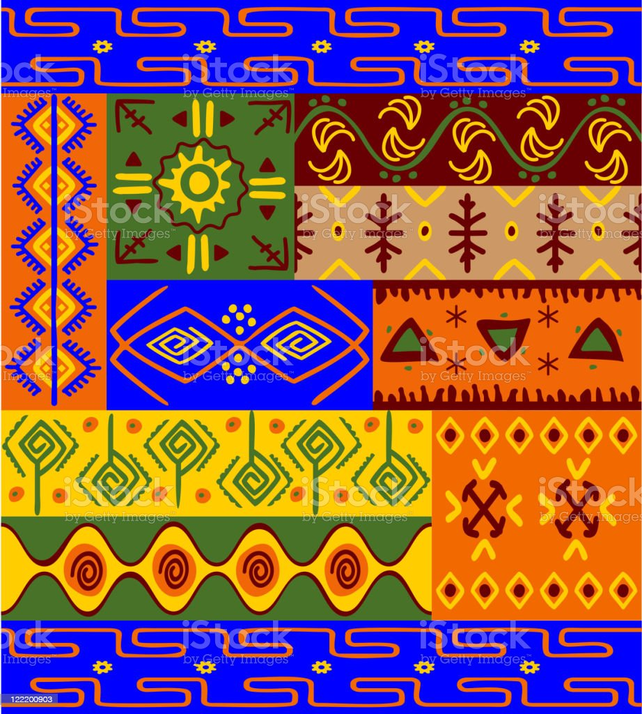 African motifs and ornaments royalty-free stock vector art