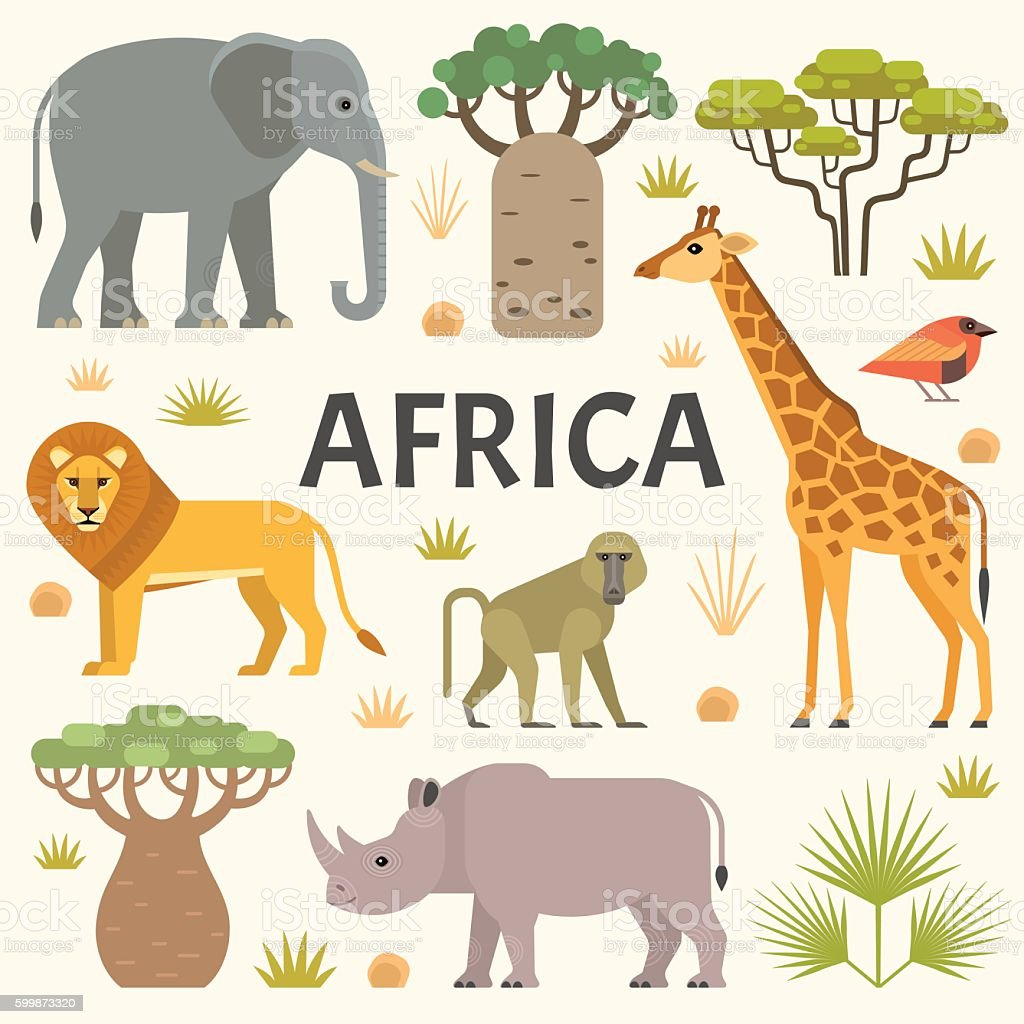 African nature vector art illustration