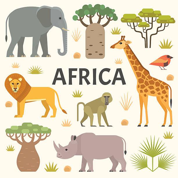 African naturaleza - ilustración de arte vectorial