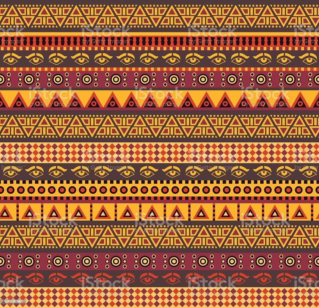 Padrão de africano - ilustração de arte em vetor