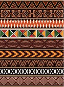 Traditional african patterns. Seamlessly repeatable lines.