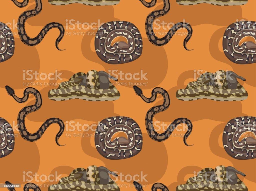 African Python Cartoon Seamless Wallpaper vector art illustration