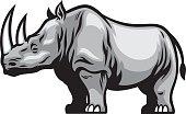 vector of African Rhino