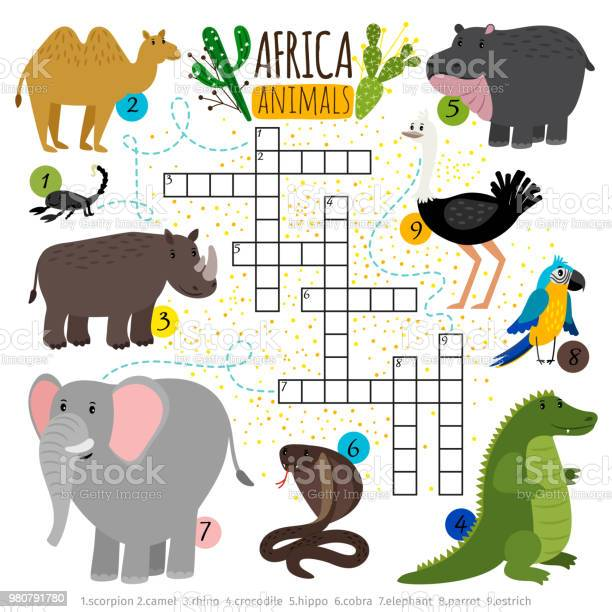 African safari animals crossword vector id980791780?b=1&k=6&m=980791780&s=612x612&h=uv2 hcgj qpenvbmwosxakg3l3zechvowktm hjgvhy=