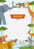 African Safari Animals Frame