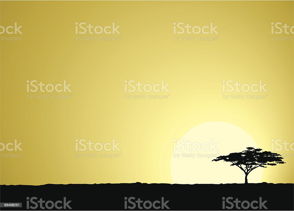 Safari africano sfondo - illustrazione arte vettoriale
