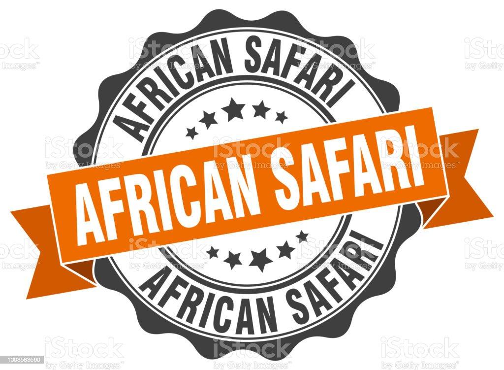 African Safari Stamp Sign Seal Stock Illustration - Download
