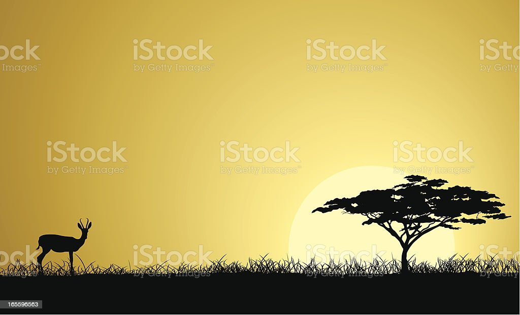 Safari africano - illustrazione arte vettoriale