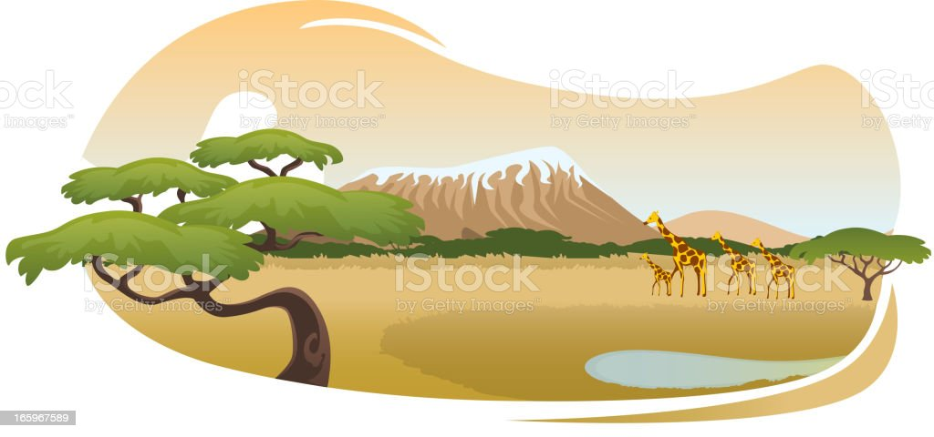 African Savannah royalty-free african savannah stock vector art & more images of africa
