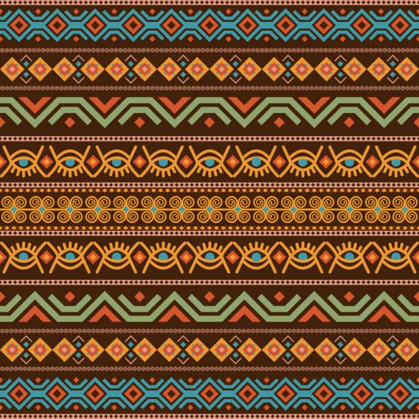非洲無縫與 adinkra 符號。古色古香的圖案設計。向量例證。 - africa 幅插畫檔、美工圖案、卡通及圖標