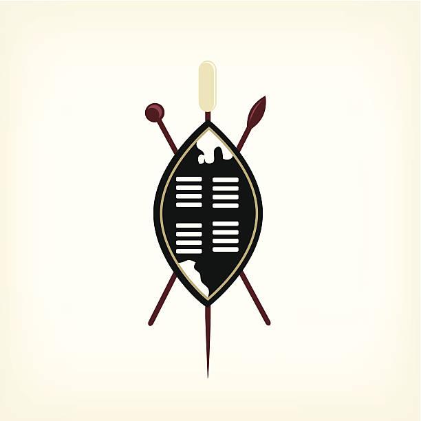 Best African Tribal Warrior Shield Spear Illustrations