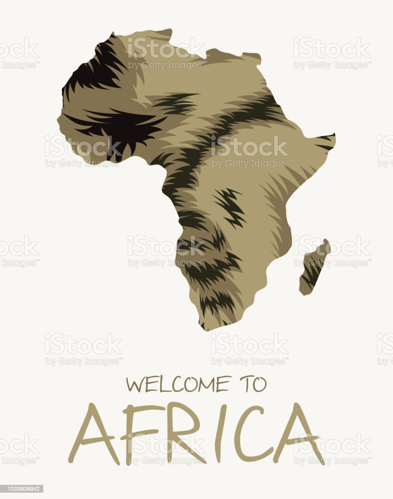 Tropical Rainforest In Africa Map.African Striped Hyena Map Illustration Stock Vector Art More