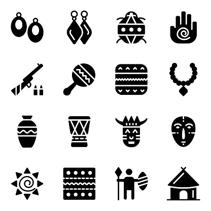 African Traditional Icons in  Style Pack