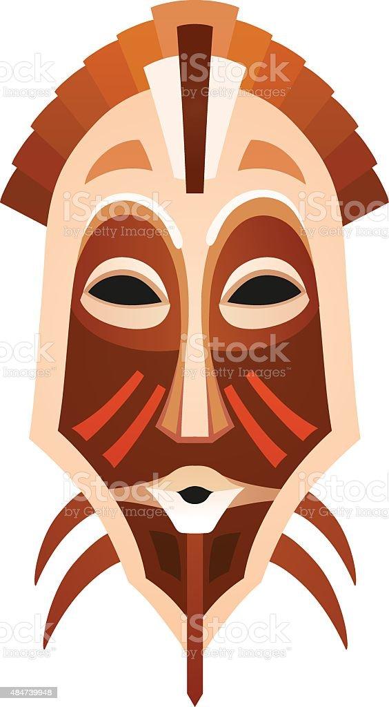 African tribal mask vector art illustration