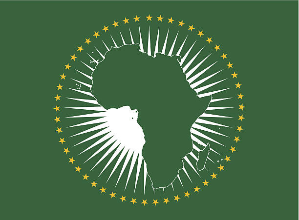 African Union Flag vector art illustration