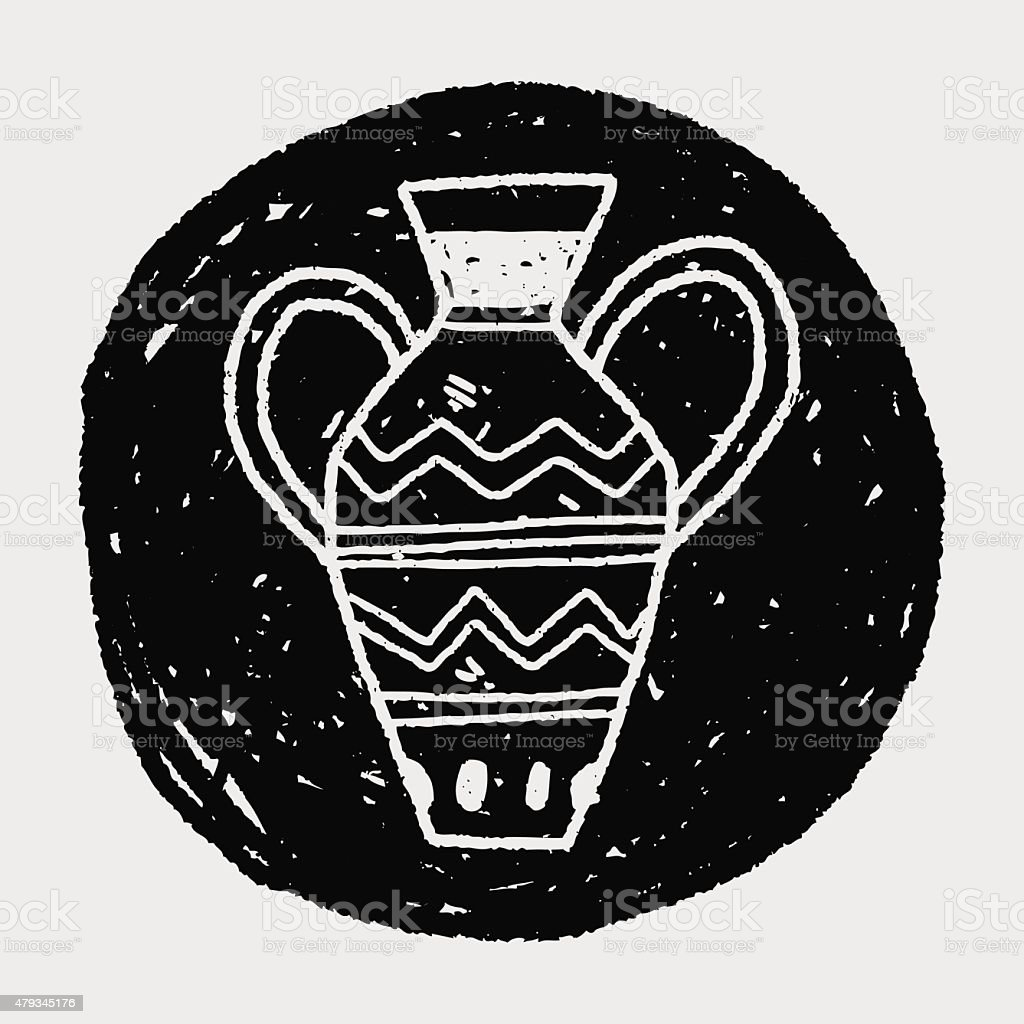 African Vase Doodle Stock Illustration - Download Image Now - iStock