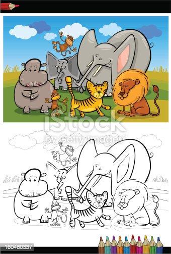 istock Animales de safari libro para colorear 497632294 istock safari ...