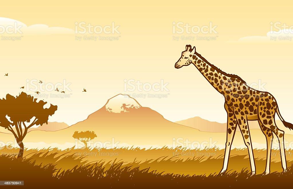 African Wilderness Scene royalty-free stock vector art