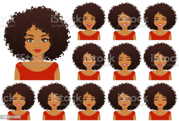 African woman expressions set vector id1049204930?b=1&k=6&m=1049204930&s=612x612&h=s psejzz5ea36s5v3e8ma1g0d j1ilhl4uthr4tsqvw=