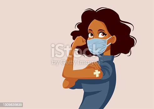 istock African Woman Showing Vaccinated Arm 1309835835