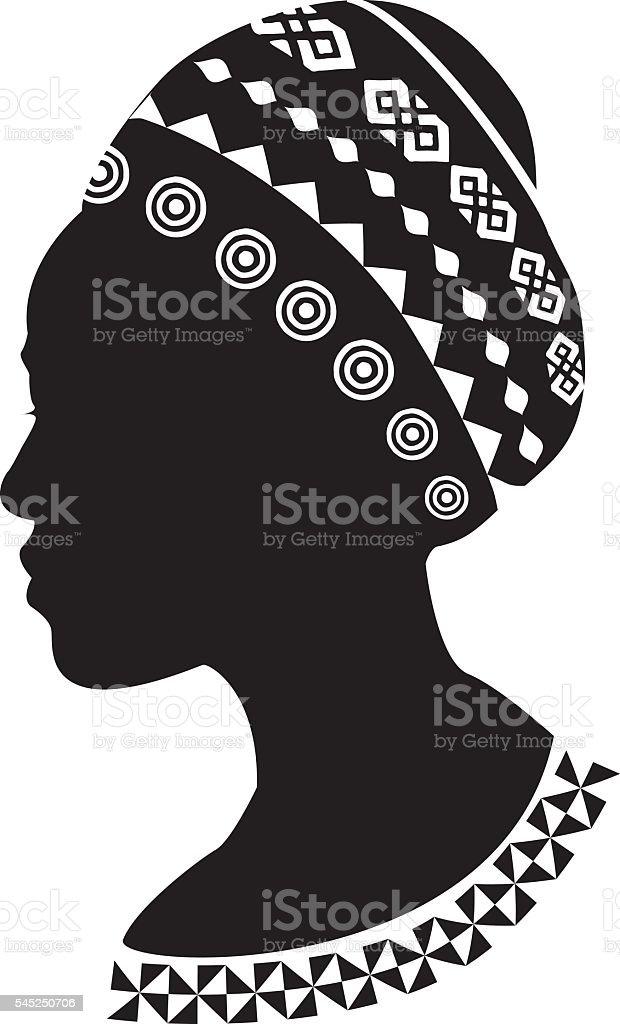 African woman vector art illustration