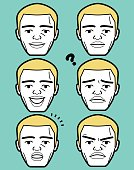 African-american Male emoticon Mature adult man face with crew cut