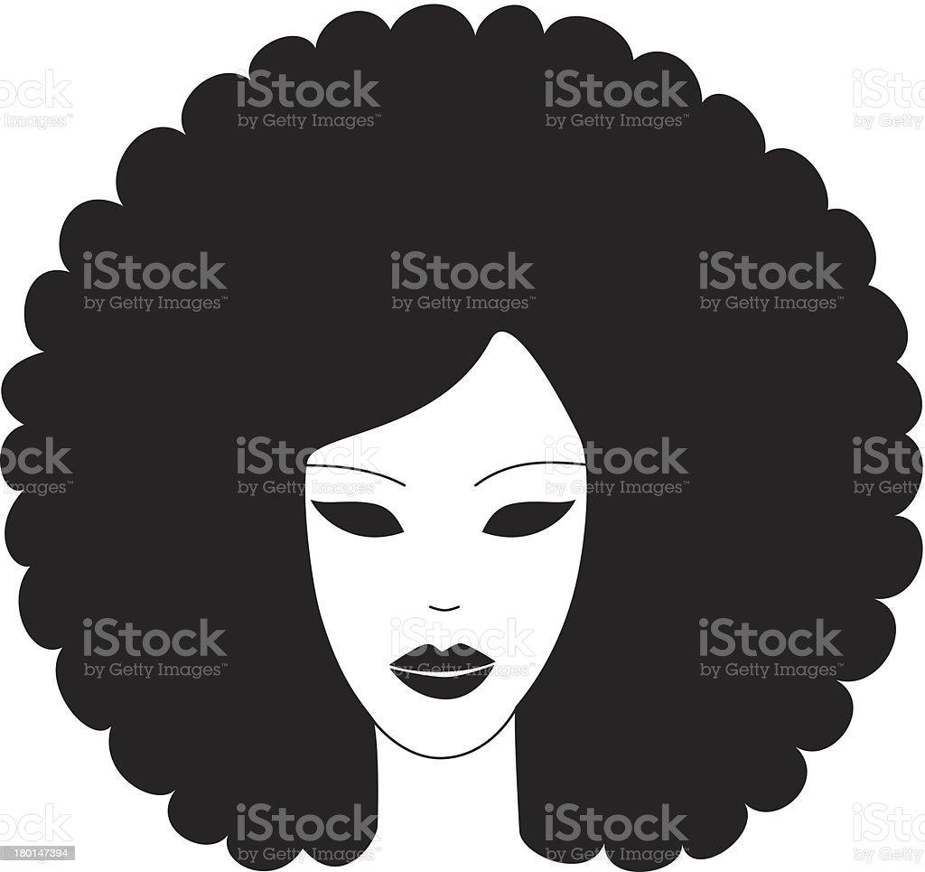 Afro 1 vector art illustration