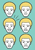 Afro African-american Male Characters Vector art illustration.