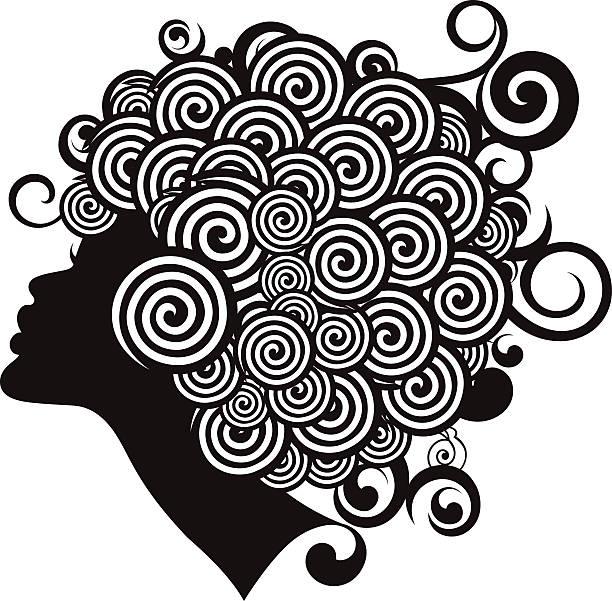 Afro Fryzura. – artystyczna grafika wektorowa