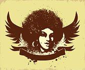 afro style logo illustration