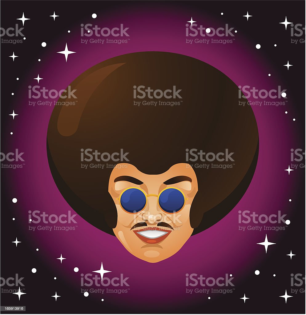 Afro Style Man royalty-free stock vector art